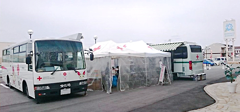 モナコリゾート、モナコ龍野の駐車場に献血車両を誘致